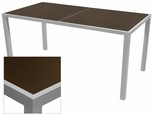 Sedona 32'' X 64'' Rectangular Table with Corsa Espresso Vein Table Top - Anodized Silver [SC-1014-405-ESP-SC-1009-521-ANS-SCON]