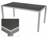 Sedona 32'' X 64'' Rectangular Table with Corsa Gunmetal Silver Table Top - Anodized Silver [SC-1014-405-GMS-SC-1009-521-ANS-SCON]