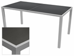 Sedona 32'' X 96'' Rectangular Table with Corsa Gunmetal Silver Table Top - Anodized Silver [SC-1014-405-GMS-SC-1009-522-ANS-SCON]
