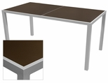 Sedona 36'' X 108'' Rectangular Table with Corsa Espresso Vein Table Top - Anodized Silver [SC-1014-406-ESP-SC-1009-529-ANS-SCON]
