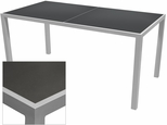 Sedona 36'' X 108'' Rectangular Table with Corsa Gunmetal Silver Table Top - Anodized Silver [SC-1014-406-GMS-SC-1009-529-ANS-SCON]