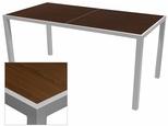 Sedona 36'' X 108'' Rectangular Table with Corsa Wenge Brown Table Top - Anodized Silver [SC-1014-406-WEN-SC-1009-529-ANS-SCON]