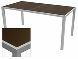 Sedona 36'' X 72'' Rectangular Table with Corsa Espresso Vein Table Top - Anodized Silver [SC-1014-406-ESP-SC-1009-528-ANS-SCON]