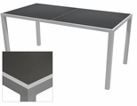 Sedona 36'' X 72'' Rectangular Table with Corsa Gunmetal Silver Table Top - Anodized Silver [SC-1014-406-GMS-SC-1009-528-ANS-SCON]