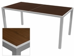 Sedona 36'' X 72'' Rectangular Table with Corsa Wenge Brown Table Top - Anodized Silver [SC-1014-406-WEN-SC-1009-528-ANS-SCON]