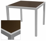 Sedona 32'' Square Table with Corsa Espresso Vein Table Top - Anodized Silver [SC-1014-405-ESP-SC-1009-520-ANS-SCON]