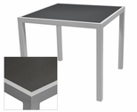 Sedona 32'' Square Table with Corsa Gunmetal Silver Table Top - Anodized Silver [SC-1014-405-GMS-SC-1009-520-ANS-SCON]