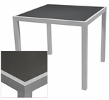 Sedona 36'' Square Table with Corsa Gunmetal Silver Table Top - Anodized Silver [SC-1014-406-GMS-SC-1009-527-ANS-SCON]