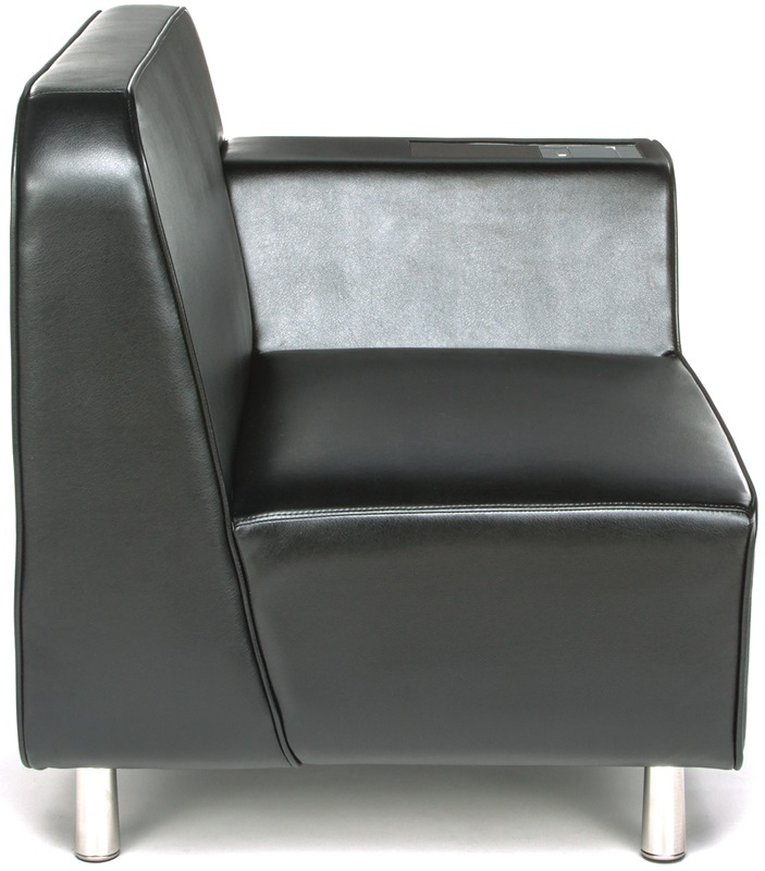 Serenity left arm lounge chair with electrical outlet for Furniture 4 less outlet