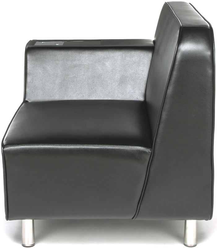 Serenity right arm lounge chair with electrical outlet for Furniture 4 less outlet