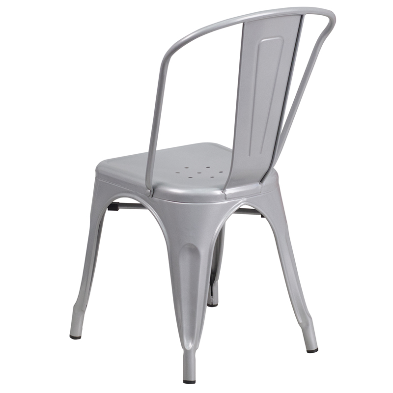 Silver Metal Indoor-Outdoor Stackable Chair, CH-31230-SIL-GG ...