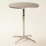 Standard Series Height Adjustable Round Pedestal Table with Chrome Plated Steel Column and Laminate Top - 36'' Diameter [ML36RDPEDADJ-MFC]