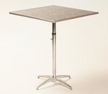 Standard Series Height Adjustable Square Pedestal Table with Chrome Plated Steel Column and Laminate Top - 30''D x 30''W [ML30SQPEDADJ-MFC]