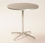 Standard Series Round Pedestal Table with Chrome Plated Steel Column and Laminate Top - 36''Dia x 42''H [ML36RDPED42-MFC]