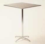 Standard Series Square Pedestal Table with Chrome Plated Steel Column and Laminate Top - 30''D x 30''W x 42''H [ML30SQPED42-MFC]
