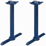TB 105 Cast Iron Standard Double Column Table Base with 2 Columns and Bases - Black [TB-105-22-STANDARD-KIT-JMC]