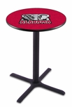 University of Alabama 36''H Black Wrinkle Finish Counter Height Pub Table with X-Base [L211B36AL-ELE-FS-HOB]