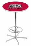 University of Alabama 42''H Chrome Finish Bar Height Pub Table with Foot Ring [L216C42AL-ELE-FS-HOB]