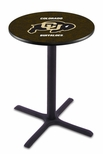 University of Colorado 36''H Black Wrinkle Finish Counter Height Pub Table with X-Base [L211B36COLOUN-FS-HOB]