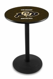 University of Colorado 36''H Black Wrinkle Finish Counter Height Pub Table with Round Base [L214B36COLOUN-FS-HOB]