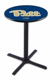 University of Pittsburgh 36''H Black Wrinkle Finish Counter Height Pub Table with X-Base [L211B36PITTSB-FS-HOB]