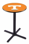 University of Tennessee 36''H Black Wrinkle Finish Counter Height Pub Table with X-Base [L211B36TENNES-FS-HOB]