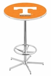 University of Tennessee 42''H Chrome Finish Bar Height Pub Table with Foot Ring [L216C42TENNES-FS-HOB]