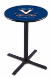University of Virginia 36''H Black Wrinkle Finish Counter Height Pub Table with X-Base [L211B36VRGNIA-FS-HOB]
