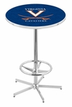 University of Virginia 42''H Chrome Finish Bar Height Pub Table with Foot Ring [L216C42VRGNIA-FS-HOB]