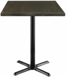 Urban Loft Collection 30'' Square Vintage Wood Top with Black Bistro Height Table Base - Espresso [T30SQ-B2015-38-LFT-ES-IFK]