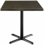 Urban Loft Collection 30'' Square Vintage Wood Top with Black Cafe Height Table Base - Espresso [T30SQ-B2015-LFT-ES-IFK]