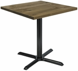 Urban Loft Collection 30'' Square Vintage Wood Top with Black Cafe Height Table Base - Natural [T30SQ-B2015-LFT-NA-IFK]