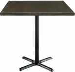 Urban Loft Collection 42'' Square Vintage Wood Top with Black Bistro Height Table Base - Espresso [T42SQ-B2025-38-LFT-ES-IFK]