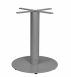 Verona Aluminum Dining Table with Large Round Base - Silver Powder Coat [SC-1008-588-ANS-SCON]