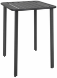 Vista 32'' x 32'' Outdoor Aluminum Bar Height Table with Umbrella Hole - Black [DVV3232T-BL-BFMS]