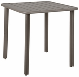 Vista 32'' x 32'' Outdoor Aluminum Table with Umbrella Hole - Earth [DVV3232-ER-BFMS]