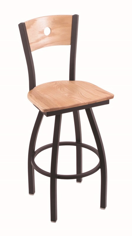 Voltaire 25 39 39 Black Wrinkle Finish Swivel Counter Height Stool With N