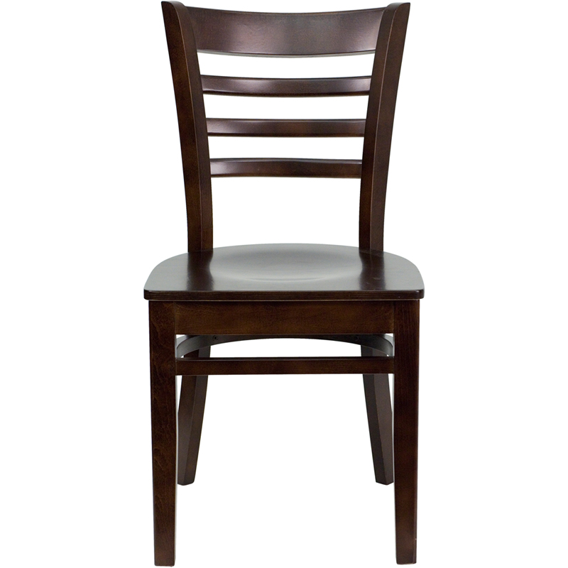 Walnut Finished Ladder Back Wooden Restaurant Chair BFDH