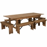 Wood Restaurant Table and Chair Sets