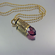 .40 Caliber Bullet Necklace | Amethyst Peacock
