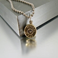 .40 Caliber Bullet Necklace Charm