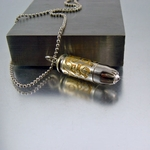 .40 Caliber Bullet Necklace | Greige