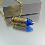 .40 Caliber Bullet Necklace | Prussian Blue