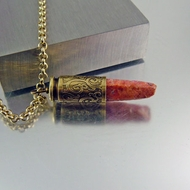 40 Caliber Bullet Necklace | Natural Ruby