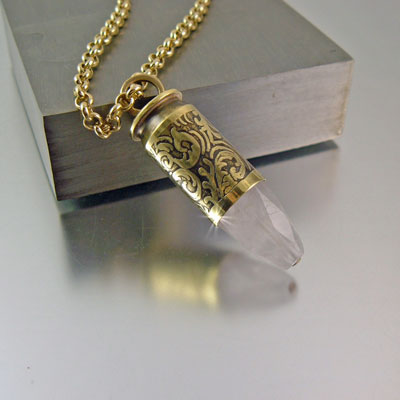 .45 Caliber Bullet Necklace | Love Stone