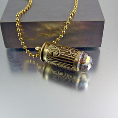 Bullet Bolo Necklace Cream Beads  Ammo Jewelry  Bullet Jewelry  Leather Jewelry  Ammo Necklace  Bullet Necklace  22 Bullet
