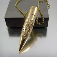 .50 Caliber Bullet Necklace | Alpha Omega