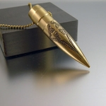 ".50 Caliber Bullet Necklace ""Crusader"""