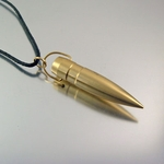 .50 Caliber Bullet Necklace | Fancy Big Boy | Zeus