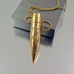 .50 Caliber Necklace | Smooth Dragon